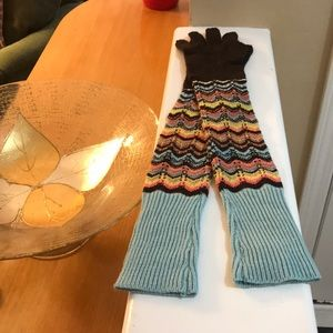 Missoni for Target Brown Chevron gloves! New